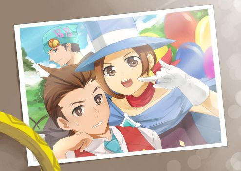 Apollo Justice- Family by meru-chan