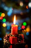 Christmas candle by rejmann
