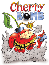 CHERRY BOMB Vape Juice Mascot by Huwman