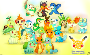 All Starters Pokemon by The3Brawlers2014