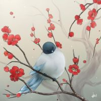 Little Bird and Plum Blossoms by Maygreen