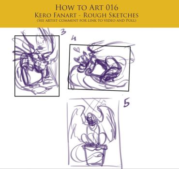 How to Art 016 - Kero Fanart - Rough Sketches by SeraphicMayin
