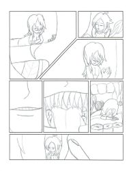 Art Trade Comic Pg. 1 for BigClaudia (B an' W) by sonichannah