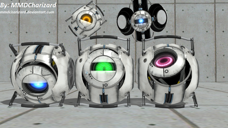 MMD Portal 2 Newcomers - Enhanced Cores +DL+ by MMDCharizard