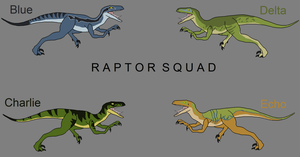Jurassic World: Raptor Squad by BlizzardHaze