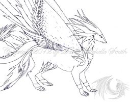 My Dragonsona (winged form) by CryoftheBeast