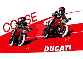 Ducati Corse (Monster 696 and 1200) by ZeroHero1458