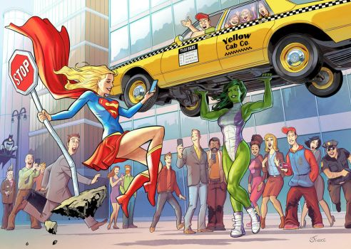 shehulk-and-supergirl-by-sergefiedos by cerebus873