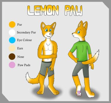 LemonPaws Ref Sheet by RascalTheFox