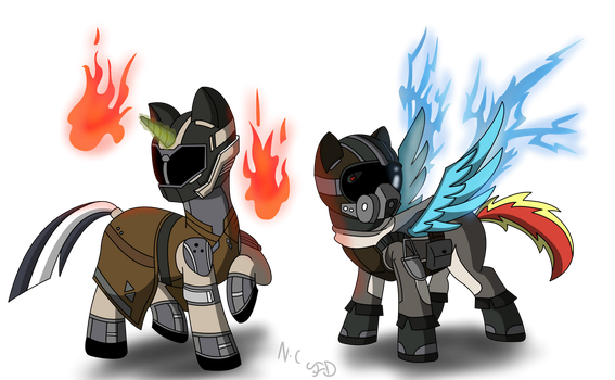 Guardian ponies by Flamelight-Dash