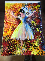 Dance In The Autumn Painting by gayatri23119