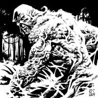 Swamp Thing - 6x6 by ronsalas