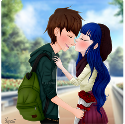 Nose kiss. by Lysna