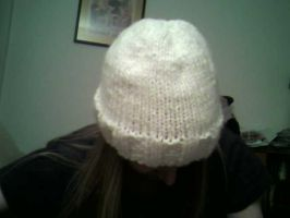 White Hat -Nervous Knitting II by TinyBunny