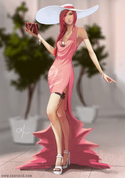 Lady in Pink by SourAcid