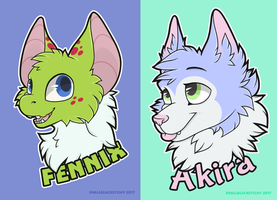 Badges for idbluver - [commission] by Smallblacksticky