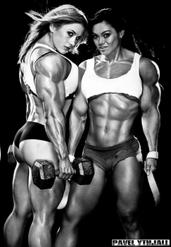 Female muscle 25 by BigDane