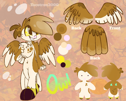 OC Ref- Owl (CoolOwlChick) by Tacotron2000
