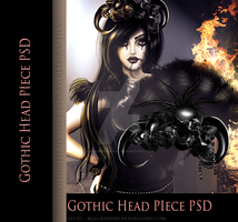 Gothic Head Piece hat psd png STOCK by MakeMeMagical