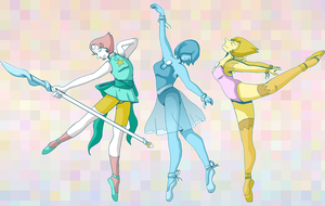 Steven Universe: The Pearls by dreamerswork