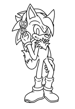 .: for FluffyPup ~ Koji [Line Art] :. by SonicDBZFan4125