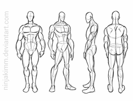 male standing pose (commission sketch) by ninjakimm