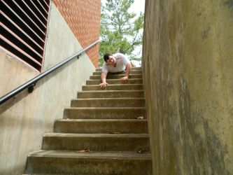 Pursuit down the Stairs 1 by GronHatchat