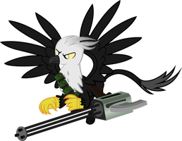 Gryphon Mercenary (Fallout Equestria) by Vector-Brony