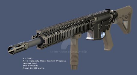 ar-15 model work in progress by tomsymonds