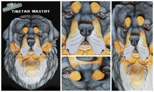 3D - Portraits: Tibetan Mastiff by SaQe
