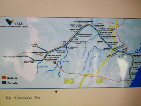 Map of the stations of the Vale railroad by Alexandre-ue