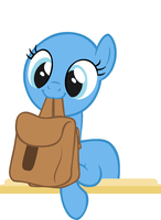 MLP - Cute Pony base with bag by Lavender-Doodles
