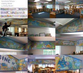 Carlthorp Library Mural by ColbyBluth