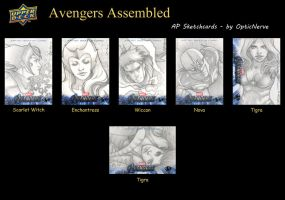 Avengers Assemble - AP Sketchcards by theopticnerve