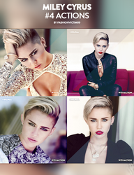 Miley Cyrus 4 Photoshop Actions by FashionVictim89