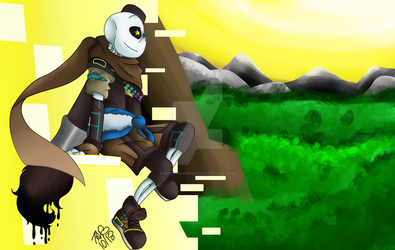 Like A Painting [Ink!Sans] by superhorse18