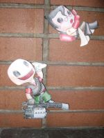 Heavy and Medic Sackboys by The-Letter-W