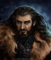 Thorin Oakenshield. King under the mountain. by AtanvarneArt