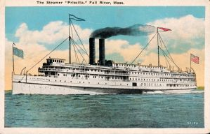 The Steamer Priscilla - Fall River Line by Yesterdays-Paper