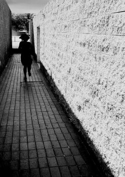 Searching the pavement. by stripthesoul