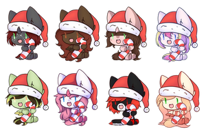 Candy Cane Christmas Batch 1 by Majo-Shoujo