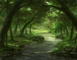A River In The Forest by MCfrog