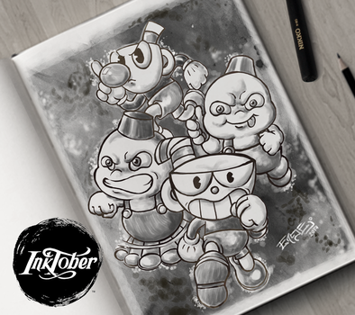 Inktober 2017 Day 03 Cuphead and Snow Bros by Engel-vg