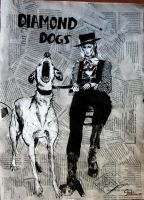 Bowie, Papers and... Dogs by girl-skeleton