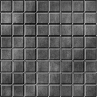 Grey Metal Small Tile Floor 01 by Hoover1979