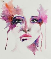 Experiment with watercolor by IRSart