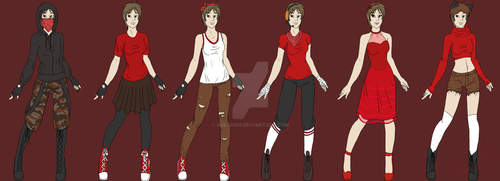 Thief outfits by Adela555