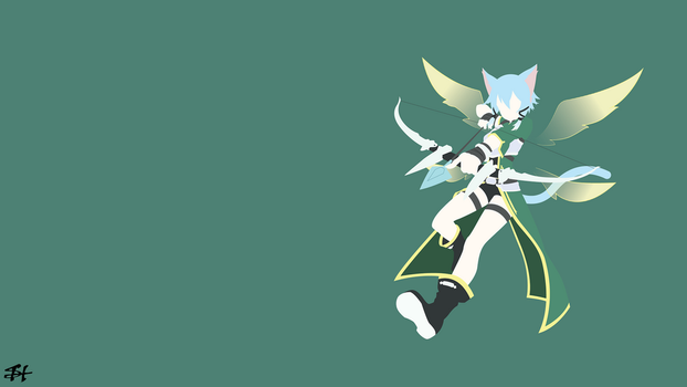 Shinon (SAO) Minimalist Wallpaper by slezzy7