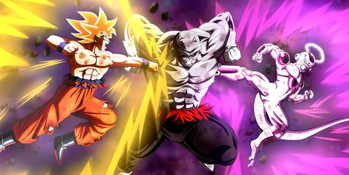 Goku y freezer vs jiren by lucario-strike