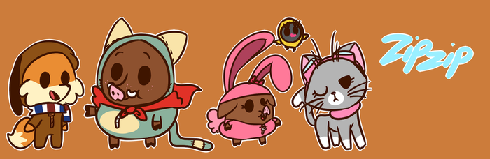 Zipzip Banner by Cookie-and-her-foxes